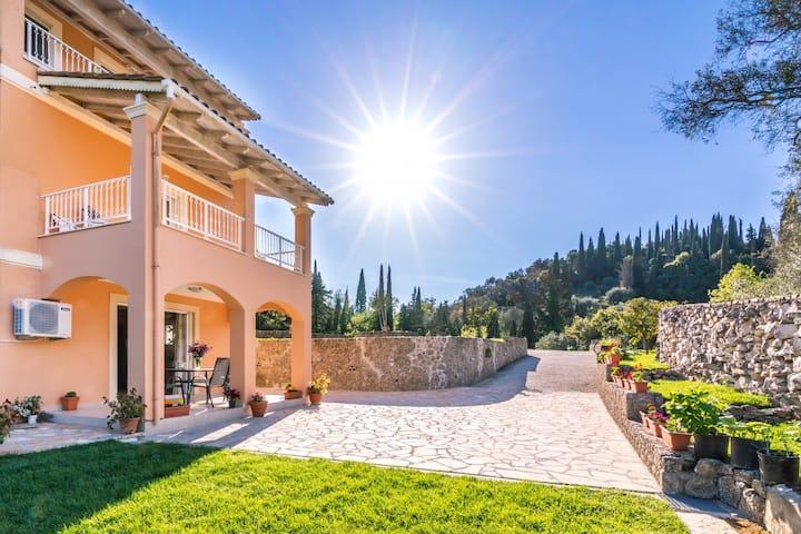 Olga's apartment in Corfu