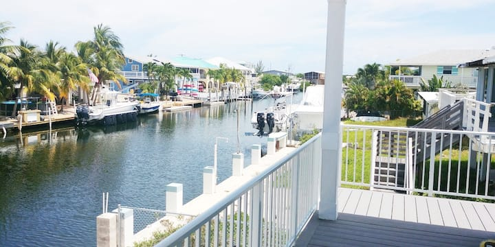 Big Pine Key New House- 60' Dock on 80' wide Canal