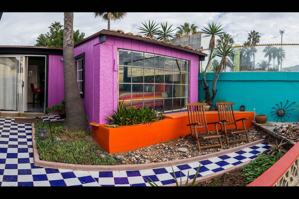 """Charming and Cozy- """"Casita on the Cliff"""".  Private studio apt. with separate entrance and sublime ocean view."""