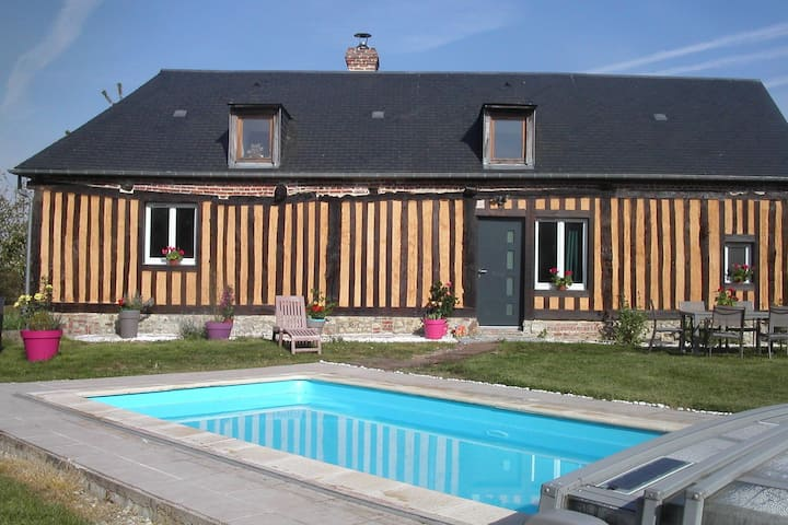 Characteristic, 16-th century house with heated swimming pool.