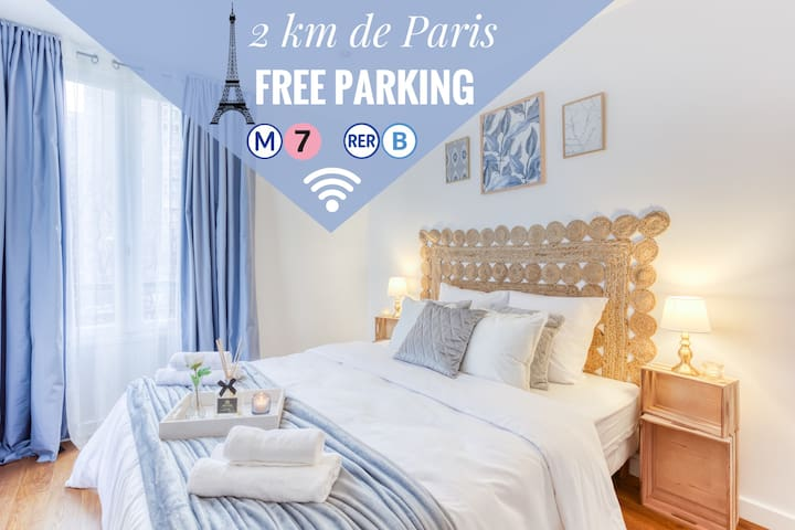 🍃Havre de paix🍃Portes de Paris • Free Parking•WIFI