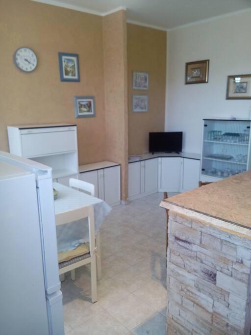 Soggiorno/cucina dell'appartamento (Cortoghiana - Piazza Venezia nr. 96)