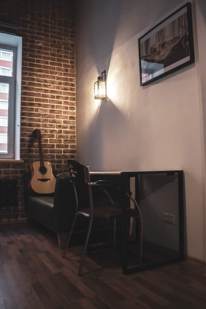 Двухуровневые апартаменты лофт (1-сп кровати,21м2)