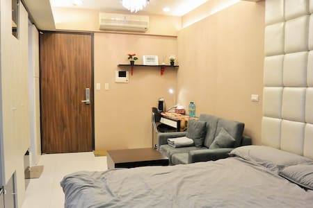 Nice sudio near taipei 101/5 min to MRT./free gym - 信義區 - Serviceret lejlighed