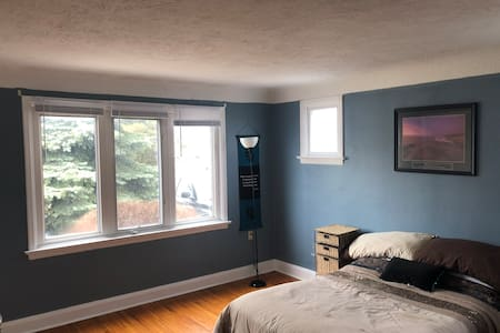 Master bedroom in quiet detached home