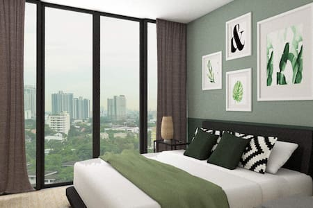 Double Bed with City View