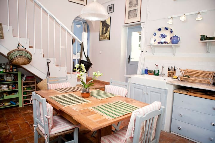 Lovely double height country kitchen