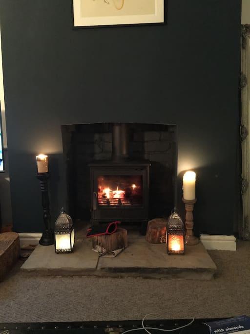 Real log burner