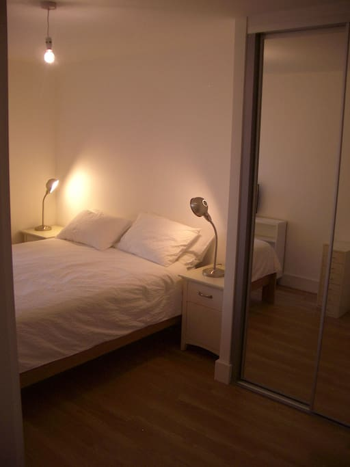 King size bed and huge wardrobe