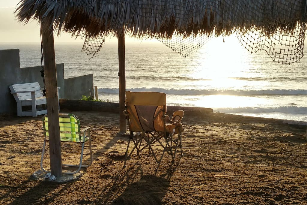 PRIVATE PALAPA, FIRE PIT, VOLLEYBALL COURT, SURF WAVE, OCEAN FRONT BEACH ENTRANCE