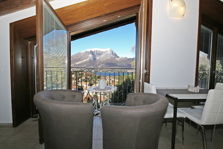 Tramonto charming attic with stunning view, garden