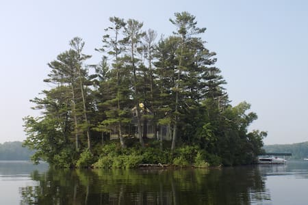 Long Lake Private Island with Cottage