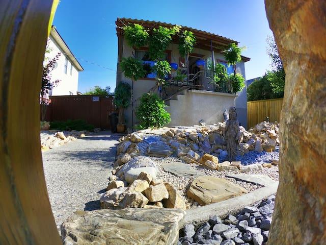 Zen Stepping Stone Rock Garden  - Central Location