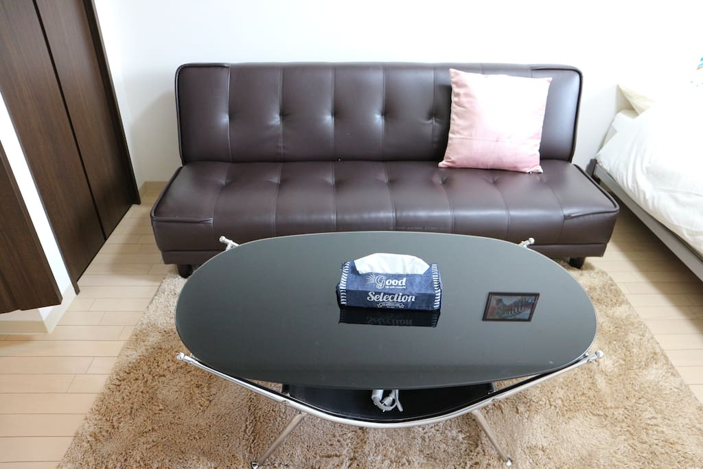 Table and sofa bed