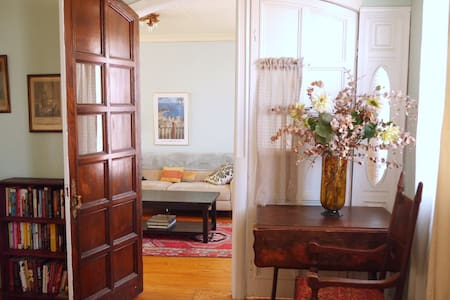 This is a unique 130 years old 3 story house. The apartment is beautiful, spacious, tastefully furnished, renovated with modern amenities. Park Slope and Carroll Gardens main commercial avenues, many interesting shops and restaurants nearby.