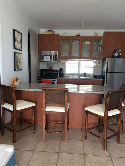 Fully Equipped Kitchen with large island