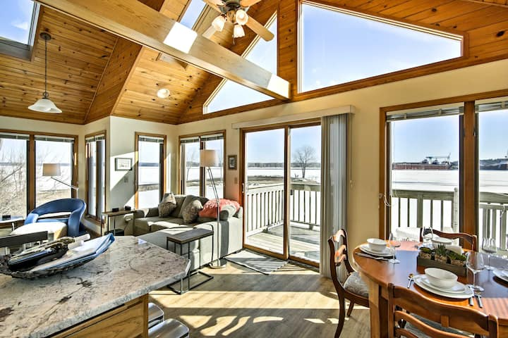 Waterfront Sturgeon Bay Home w/Dock, Decks & Grill