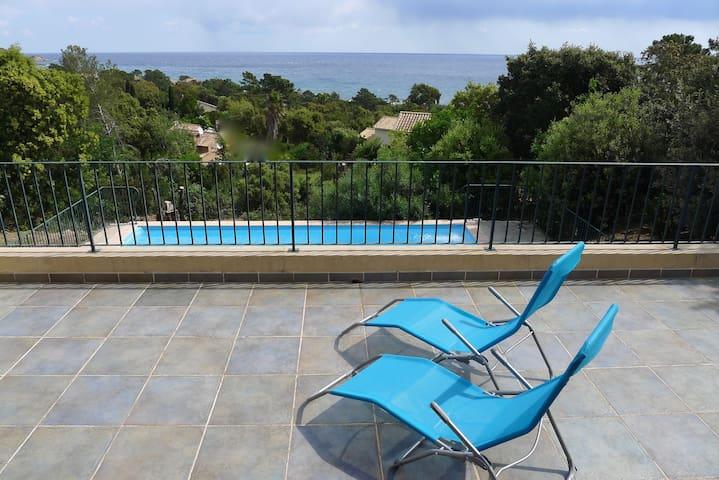 Villa Valle Longa - Vue magnifique sur la mer - Zonza - Willa