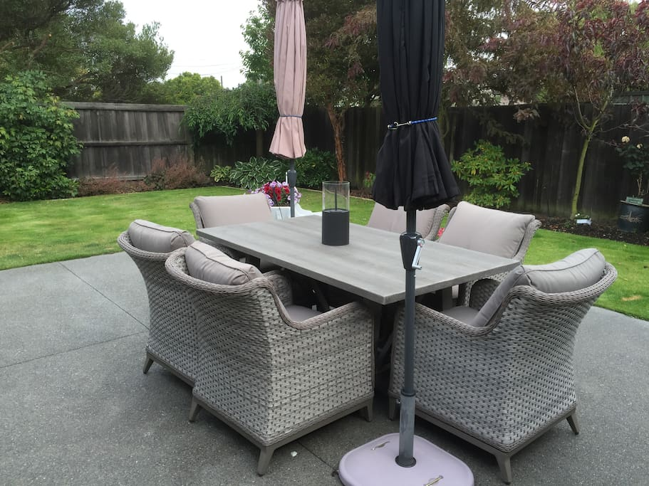 Relaxed outside area