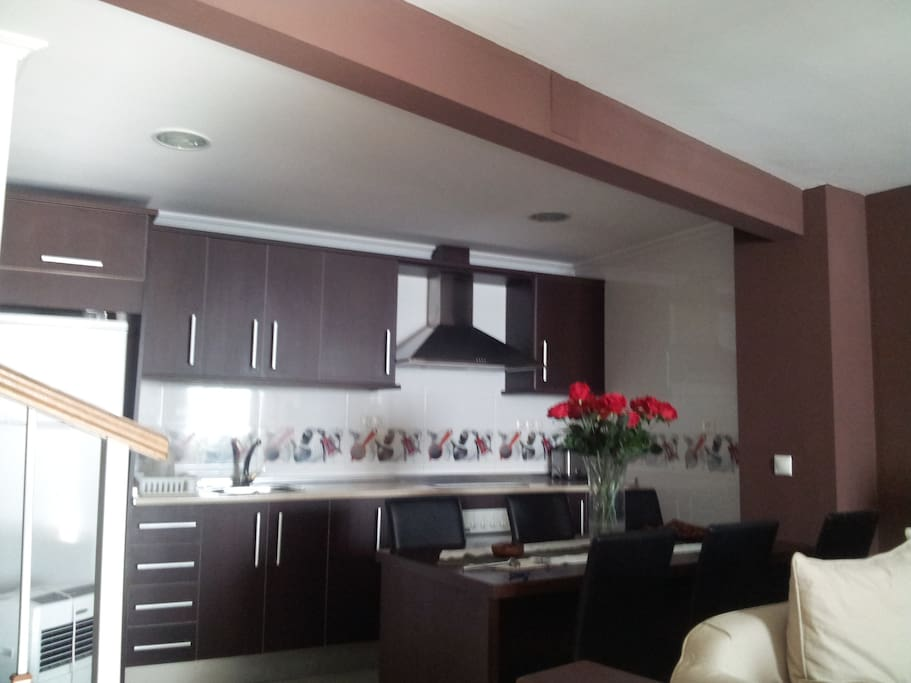 Cocina, comunicada con el salón