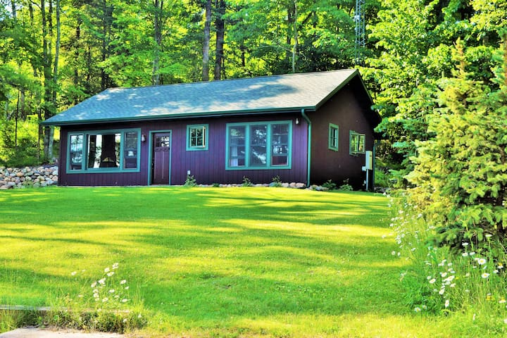 Great Cabin with Sandy beach on 8 private acres!