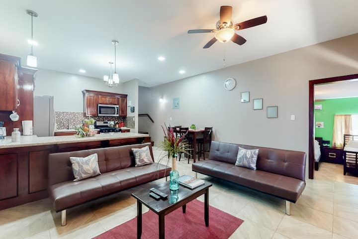Spacious home w/ WiFi, partial AC, ceiling fans, raised patio, & gated entrance