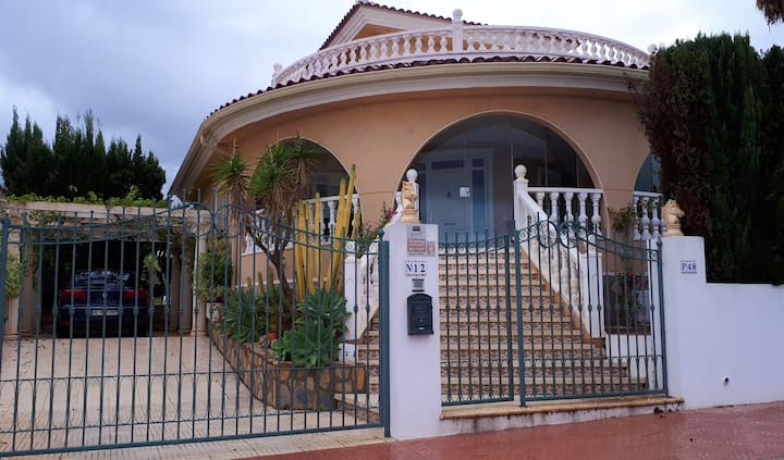 Villa with 3 bedrooms in Ciudad Quesada, with wonderful sea view, private pool, enclosed garden - 5 km from the beach