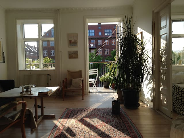 Bright, airy and quiet apartment with 2 balconies