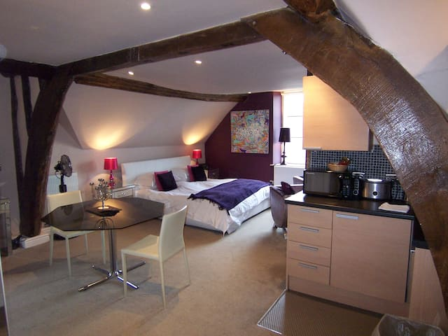 Contemporary Suite 1 within historic building