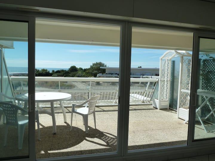 Magnifique vue mer avec terrasse 19 m2 exposée SUD