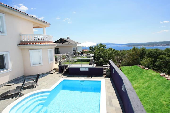 Luxury Villa in Crikvenica with pool and sea view