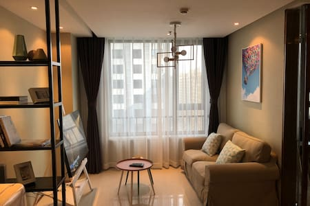 Mhome  魅蓝童趣风格 万达广场60平方精品套房公寓(不能烧饭)