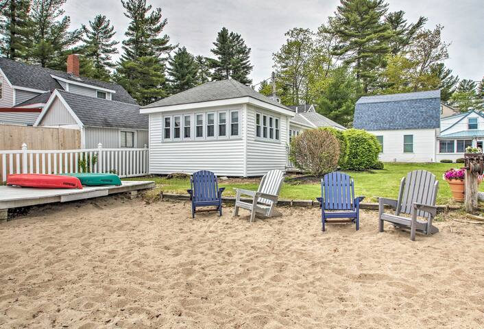 Just steps from Lake Sebago, this vacation rental and it's secluded beach await!