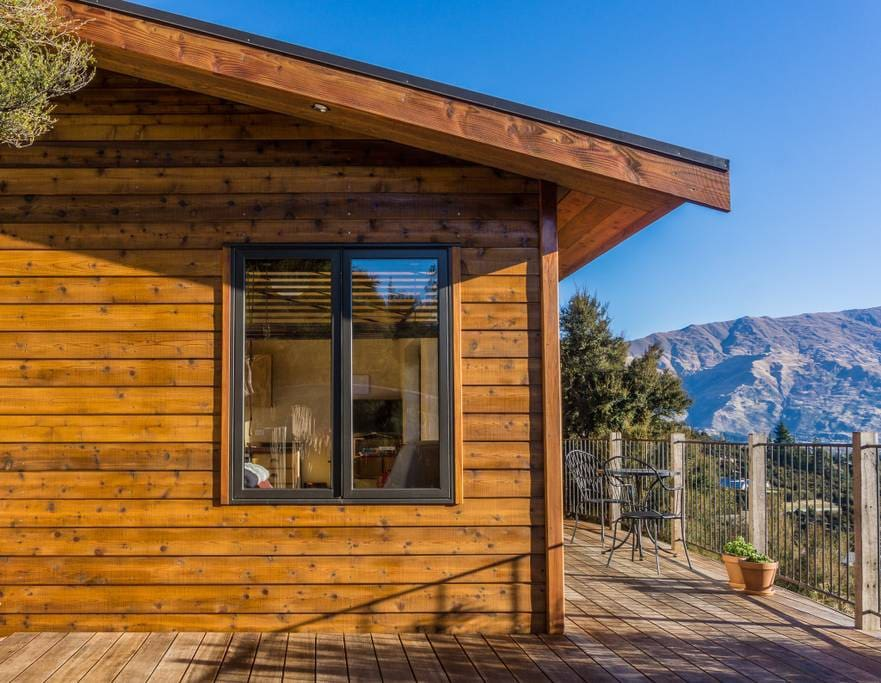 You have private and exclusive access to the whole cedar-clad chalet and surrounding decks.
