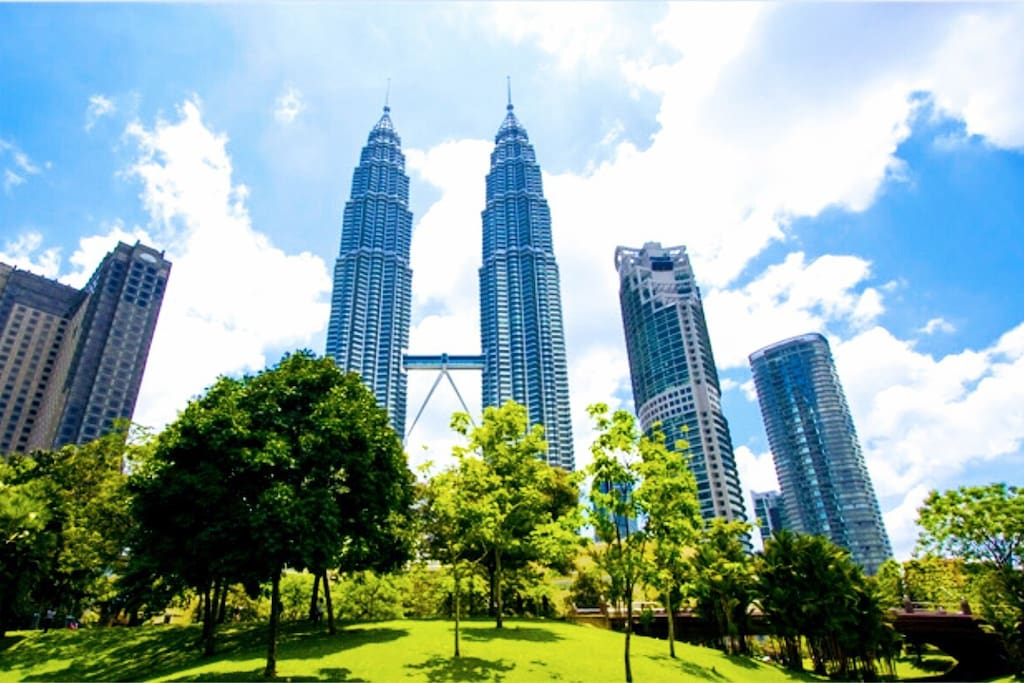 Petronas tower famous tourist spot less than 15 mins walk from my apartment