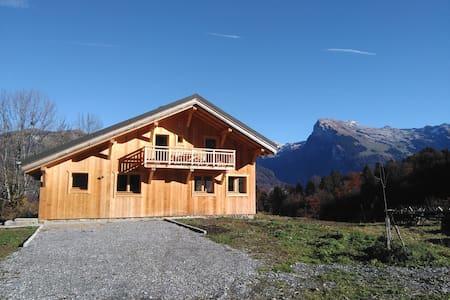 Chalet neuf,Morillon,Grand Massif,3chambres,sauna