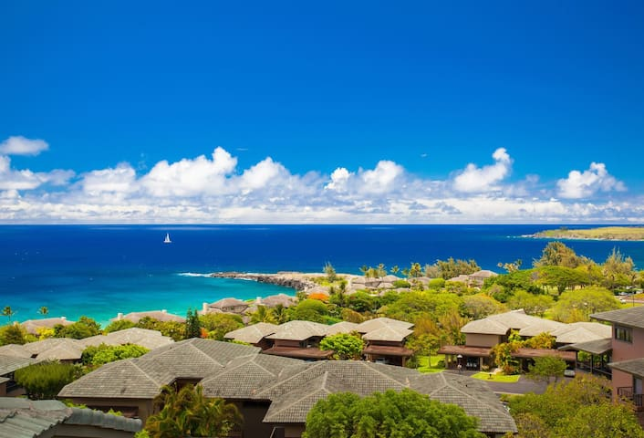 Sweeping ocean views  from the east end of Molokai, to Honolulu Bay, and beyond!