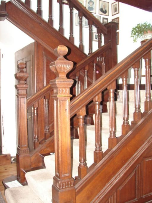 Staircase from entry hall