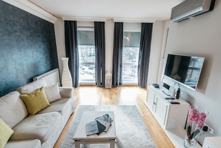 Lux 2 bedroom city center apt. with free parking