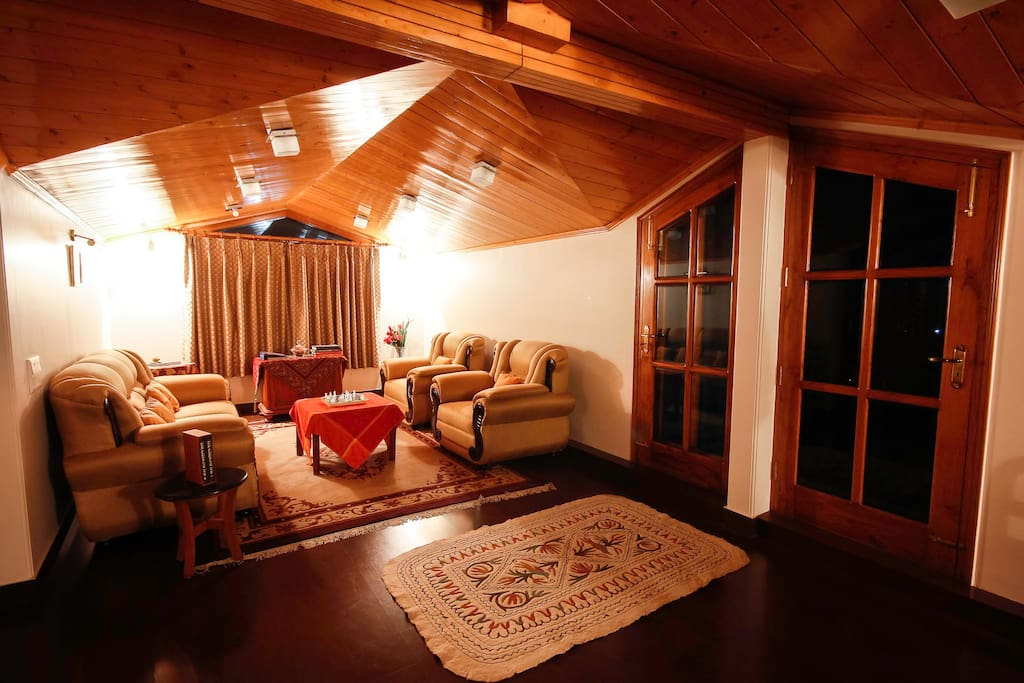 Entertain a few friends in the Living Area which boasts of locally made Teak furniture