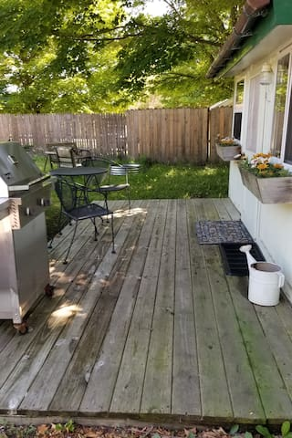 Grill and firepit are ready for your use.