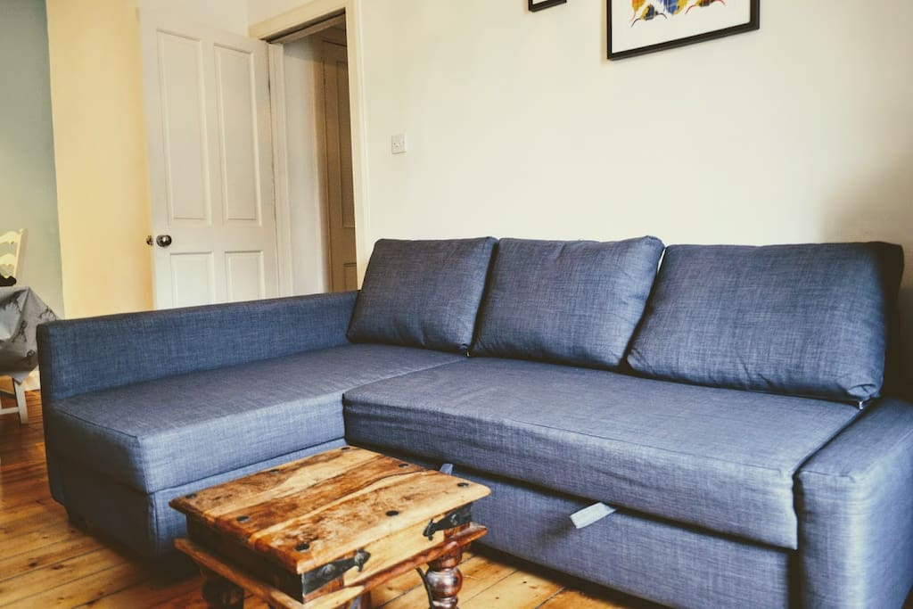 Sofa Bed in Lounge Area