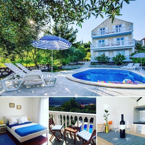 Bijela Villa ~ Apartment #2 and POOL!