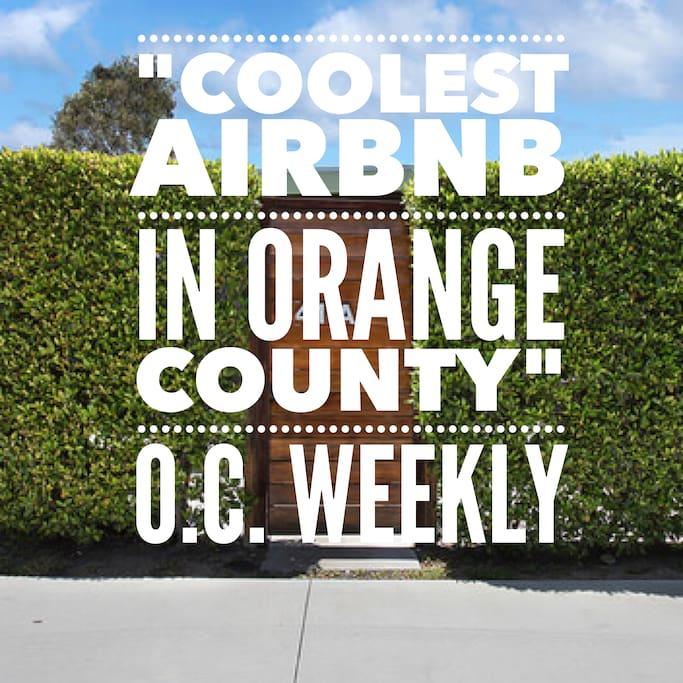 We were named one of top 10 airbnb's to stay in by O.C. Weekly. Thank you O.C. Weekly!