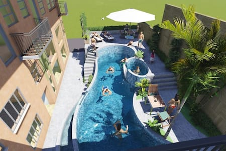 Up to 300 mbps wifi & spectacular view of the pool - Manila - Bed & Breakfast