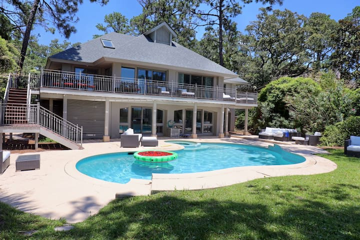 9 Bedroom 7 5 Bath Oceanfront Sea Pines Sleeps 20 Vacation Homes For Rent In Hilton Head