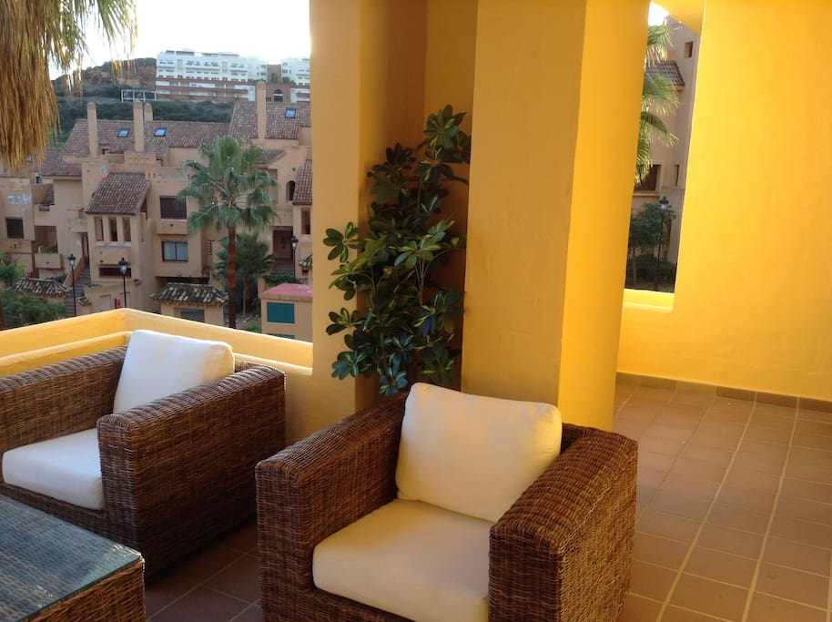 A nice size terrace to enjoy outdoor eating or to relax and unwind