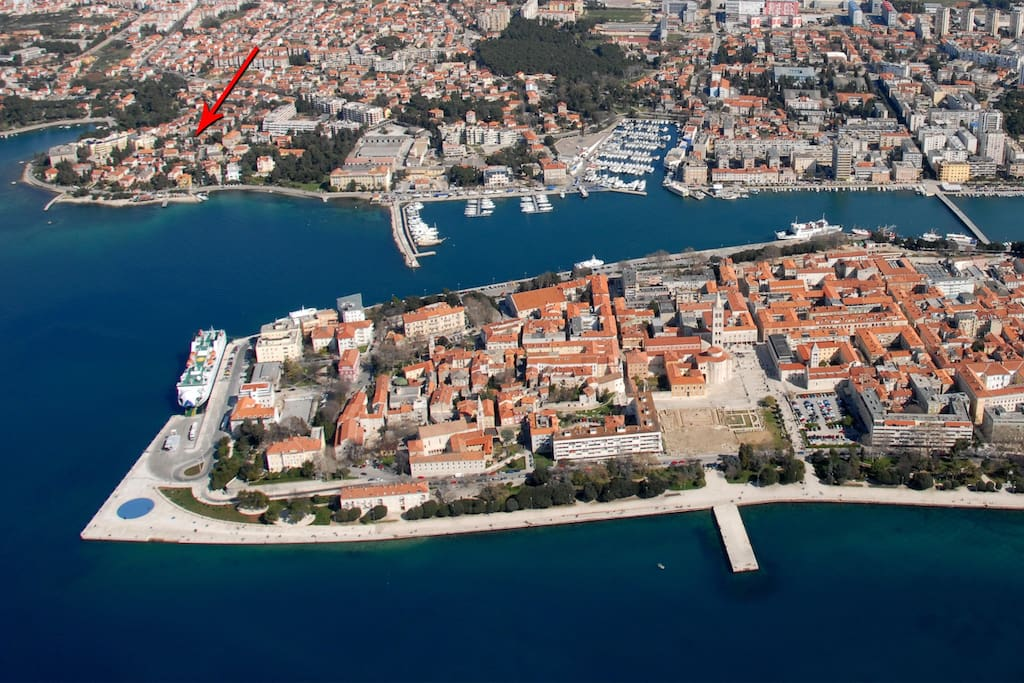Our location-just 15 min. walk from the City Center