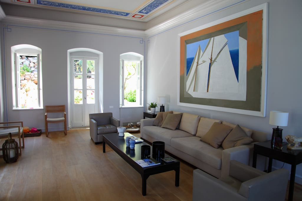 Upper Area Living room - with magnificently painted ceiling