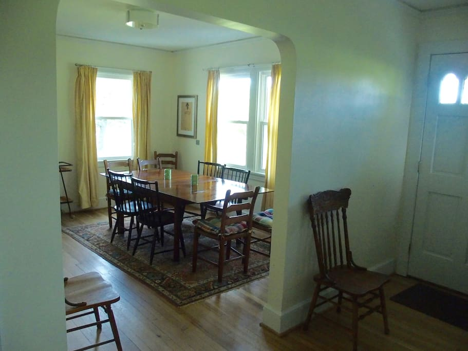 Dining room as seen from the living room